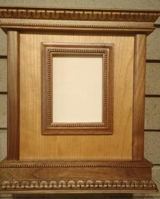 Wood Urn with Frame